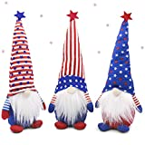 Set of 3 Patriotic Gnome Plush American President Election Decoration Tomte Veterans Day Standing Figurine for 4th of July Gift Handmade Elf Scandinavian Household Ornaments Kitchen Tiered Tray Decor