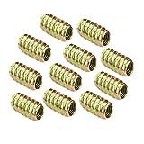 10pz Bulloni di Connessione Legno Interfaccia Inserire Viti Mobili Dadi Di Fissaggio - M6 * 18