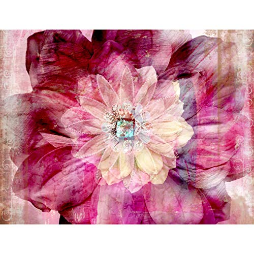 Runa Art Fototapete Mandala Blume Modern Vlies Wohnzimmer Schlafzimmer Flur - made in Germany - Rosa 9045010a