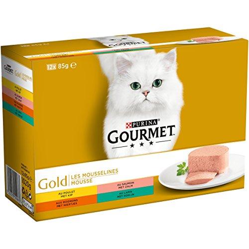 Gourmet gold 12-pack fijne mousse kattenvoer 12X85 GR