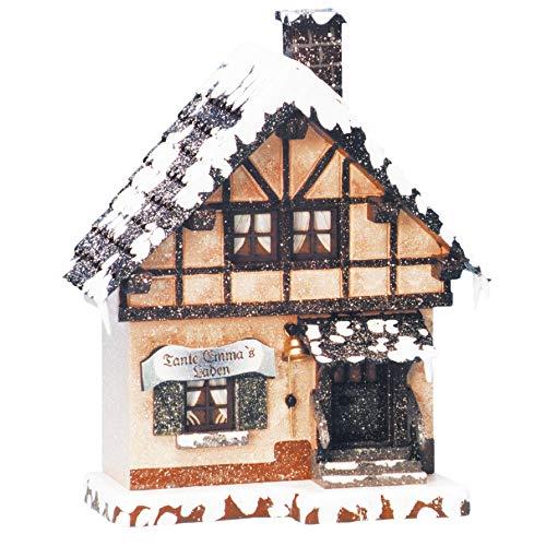Hubrig Winterhaus Tante Emma Laden Erzgebirge