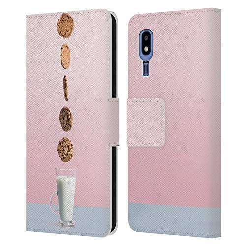 Head Case Designs Officially Licensed by Pepino De Mar Biscuit and Milk Sweets Leather Book Wallet Case Cover Compatible with Samsung Galaxy A2 Core (2019) -  HLBWH-A20CORE-PEPISWE-LBMI