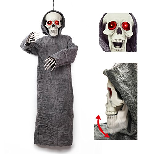 Hanging Skeleton Ghost Reaper Best Halloween Yard Decorations