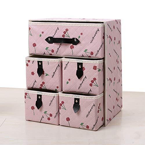 YOUYUANF Almacenamiento Thickened Non-Woven Storage Box Folding Storage Box Storage Box Drawer Folding Storage Drawer Storage Box Drawer Box