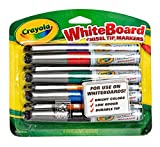 Crayola Dry Erase Markers, Chisel Tip, Low Odor, 8 Count