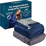 Quility Premium Adult Weighted Blanket & Removable Cover -...