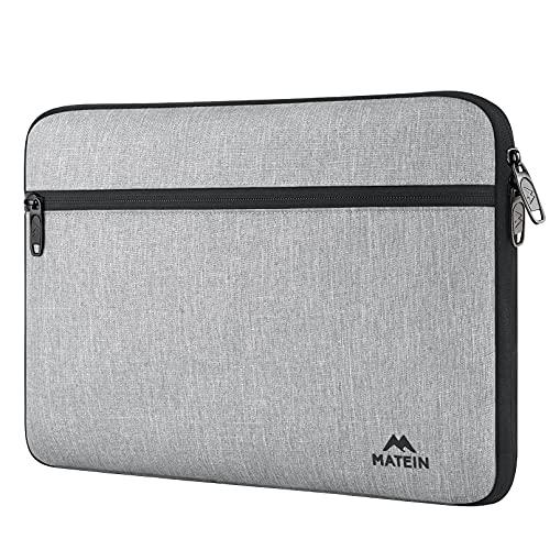 MATEIN Funda Portatil 13 Pulgadas, Impermeable Funda Ordenador Portatil 13,3 Anti-rasguños Bolsa PC 13'' Antigolpes Laptop Sleeve Case Compatible Macbook Air / Macbook Pro 13 / DELL XPS 13 - Gris