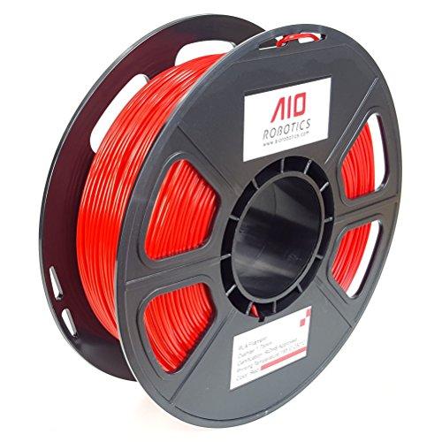 Filamento stampante 3D AIO Robotics Premium, PLA, bobina da 0,5 kg, diametro 1,75 mm, Rosso