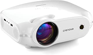 """Video Projector, Crenova Mini Home Movie Projector with 200"""" Display, 50000 Hrs LED Lamp, Work with Phone, PC, Mac, TV Stick, HDMI, PS4, VGA, SD, AV, USB"""