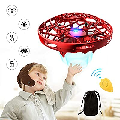 Hands Operated Drone for Kids and Adults, Pickwoo P10 Hands-Free Mini Drone Helicopter, Mini UFO Drone with LED Light, Easy Indoor Outdoor Flying Ball, Drone Toys for Boys Girls