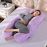 yqs Almohada para Dormir Lateral Almohadas de Maternidad Embarazo Side Sleepers Ropa de Cama Almohada de Apoyo para Mujeres Embarazadas algodón Corporal 5