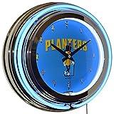 Classic Planters MR. Peanut Blue Double Neon Clock Kitchen Diner Decor