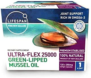 Ultra-Flex 25000 NZ Green LIPPED Mussel Oil (120caps)