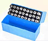 """The 1/4"""" (6.35 mm) high characters Alphabet """"A-Z"""" . The complete set is organized in a protective case Stamp your name, initials or personal id on most all surfaces with this hardened steel marking set. The special high-carbon steel stamps will endur..."""