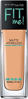 Maybelline New York Fit Me Matte+Poreless Liquid Foundation (With Pump), 230 Natural Buff, 30ml