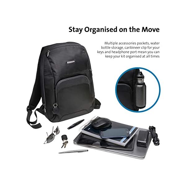 51YEMAb7MNL. SS600  - Kensington K62591EU - Mochila Triple Trek Optimizada para Ultrabook, Negro, 43 cm