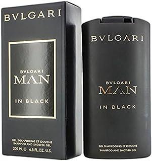 BVLGARI Man in Black gel de ducha Hombres Cabello y cuerpo 200 ml - Geles de ducha (Adultos, Hombres, Cabello y cuerpo, 200 ml, Rumano, Tabaco, Lirio, Cuero, Tuborosa)