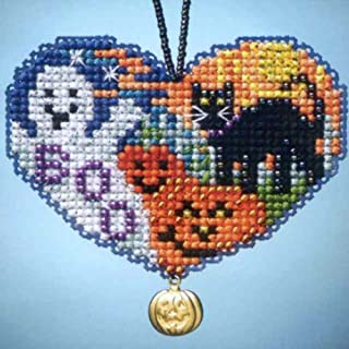 Love Halloween Beaded Counted Cross Stitch Charmed Ornaments Kit Mill Hill 2013 I Love MH163105