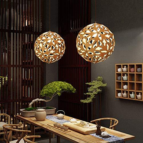 Warm Home Moderno hanglamp rond woonkamer slaapkamer eetkamer tafel tafel tafel van ijzer handwerk plafondlamp leeg van hout D40 mooi