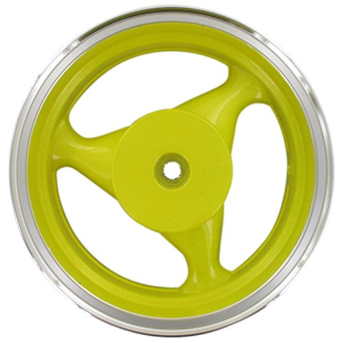 Xfight-Parts Llanta trasera de aluminio 3,50-12, amarillo, 146, 2 tiempos, 50 ccm, YY50QT-28 Rex Stratos Chicago