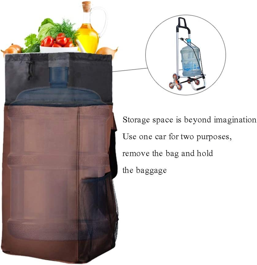 Shopping Trolley Portable Folding Shopping Trolley Car 6 Rounds Luggage Trolley Trailer Color : A