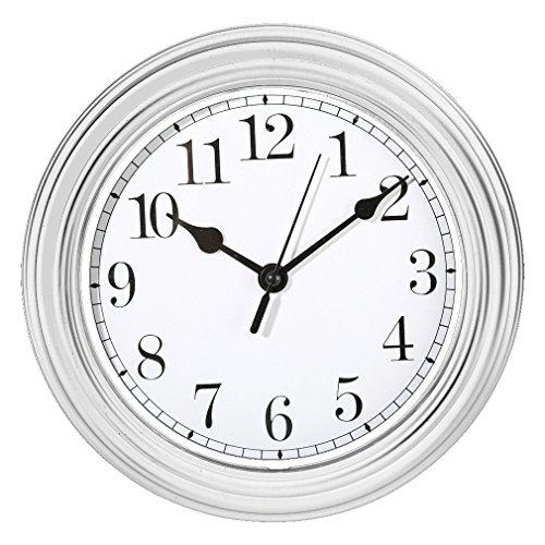 ootb Wanduhr Küchenuhr Uhr Nostalgie Landhaus antik Classic Büro 22 cm Rund (Weiß)