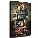 WandaVision Vision and The Scarlet Witch Wall Art Decor Canvas Painting Poster Print Canvas Art Pictures for Room Home Decor 08 (Framed,16X24 INCH) -  YOSON