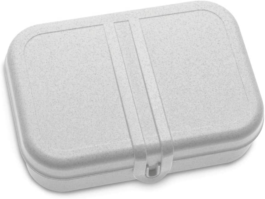 Koziol Pascal L, Breakfast Box, Lunch to go, Meal Prep, Organic Grey, Large