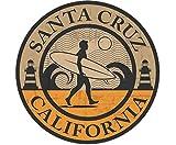Pegatina Santa Cruz California   Estilo Surfero Sticker Surf USA   Medida 13 cm