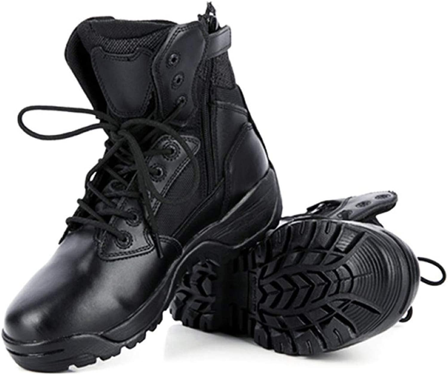 Mens High Top Police Armed Tactics Boots Desert Special Forces Military Army Combat shoes Outdoor Mountaineering Safety Leather Footwear
