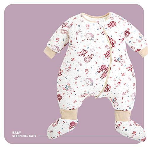 flqwe Baby Peuter Dikke Warm Fleece Gebreid, 100% katoen baby slaapzak, Baby Slaapzak 4 Seizoenen
