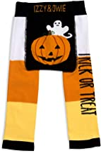 Pavilion Gift Company Izzy & Owie-Trick Or Treat Halloween 12-24 Month Unisex Baby Leggings, Orange, 12-24 M