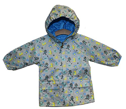 Frenchie Mini Couture Monster Reversible Rain Coat (18-24 Months, Blue)