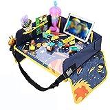 LYXCM Knietablett Kinder, Kindersitz-Spieltablett Mit Farbenfrohem Space Top-Snack Für Kleinkinder Aktivitäts-Tablett