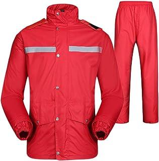 BGROESTWB Snow Rainwear Unisex Rain Suit With Reflective High-Visibility For Cyclist Waterproof Rain Jacket Multifunction ...