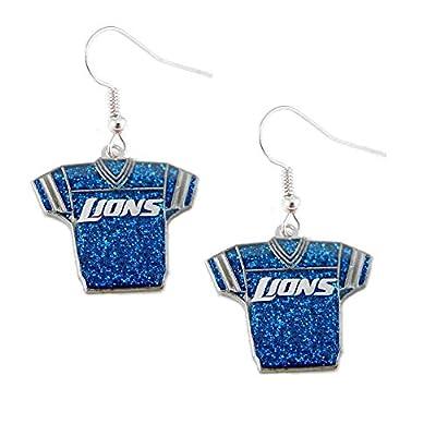 NFL Detroit Lions Glitter Jersey Earrings