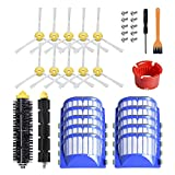 Replacement Accessory Kit for iRobot Roomba 600 Series 690 680 660 650 (Not for 645 655) & 500 Series 595 585 564, 8 Filter, 8 Side Brush,1 Bristle and Flexible Beater Brush,1 Cleaning Tool