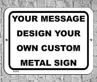 Best BA IMAGE Personalized Custom White 007 Aluminum Metal Sign with Your Name! (9x12 White w/Black, Horizontal) Reviews