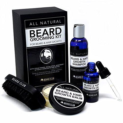 Kit de Aseo Para Barba Completamente Natural | Crecimiento de la Barba y del Vello |...