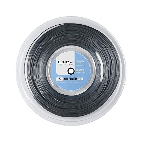 Luxilon Unisex Tennissaite Alu Power 127 Spin, silber, 220 Meter Rolle, 1,27 mm, WRZ993200