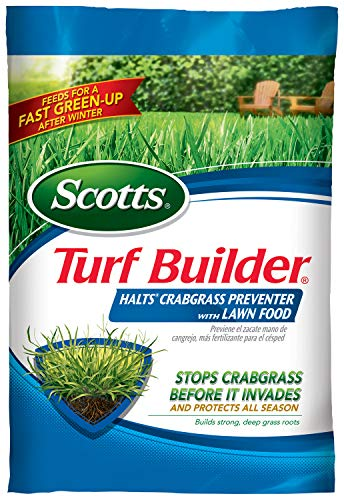 Scotts Turf Builder Halts Crabgrass Preventer with Lawn Food   Lawn Fertilizer with Weed Preventer – Covers 5,000 Sq. Ft…