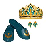 Complete Queen Anna tiara-to-toe accessory set Inspired by the accessories Anna wears when she becomes Queen of Arendelle in Frozen 2 Accessories are a rich mix of green and gold and are infused with the crocus symbol- the crest of Arendelle Includes...