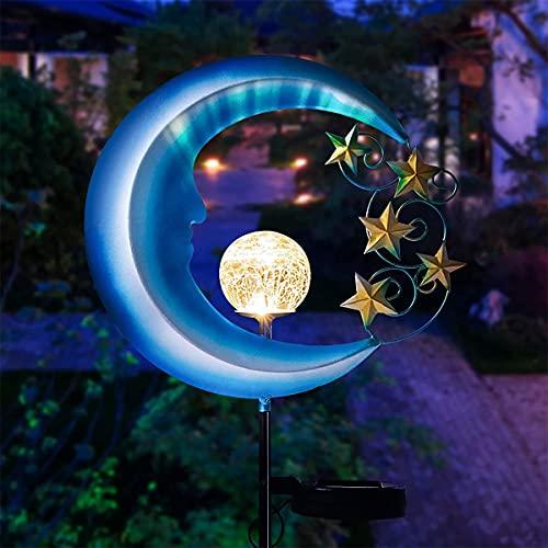 Luces De Jardín Solar, Luces De Luna Decorativas Al Aire Libre, Luces De Jardín Solar Impermeables De Metal, Adecuadas Para Carreteras, Céspedes, Patios