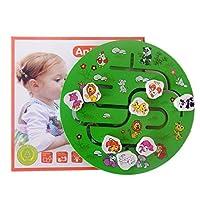 NancyMissY 動物の迷路赤ちゃん早期教育教育用木のおもちゃ漫画動物の迷路クリエイティブラウンド迷路のおもちゃ