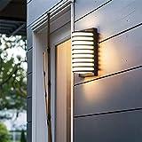 WYZXR Lámpara de Pared, lámpara de Pared LED Negra, lámpara de Pared Impermeable para Exteriores, para Patio, almacén, Entrada, jardín, balcón, Pasillo