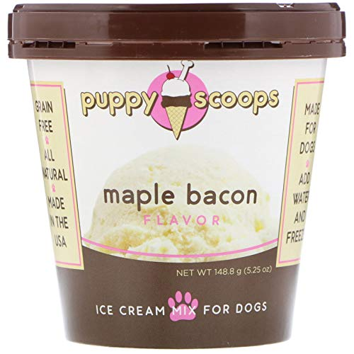 Puppy Scoops Ice Cream Mix for Dogs: Maple Bacon -...