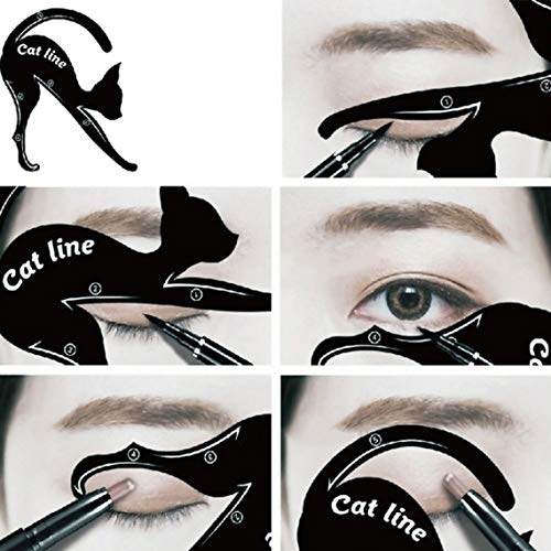 Momorain Mujeres Cat Line Eye Makeup Eyeliner Plantillas de Plantillas únicas Kits de Herramientas de Maquillaje para Ojos Herramientas de delineador de Ojos con Estilo
