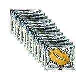 Adofect 30 PCS 24K Gold Bio Collagen Gel Lip Pad Mask For Moisturizing, Anti-Wrinkle, Anti-Aging, Nourishing & Hydrating Lips, Gold (Yellow Gold)
