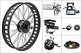 Ebike 48V 750W Rear Fat Wheel Kits 8fun Thread/Cassette Hub Motor Wheel Electric Snow Bike Conversion Kit with LCD3 Dropout 175mm 190mm (Casstte 190mm, 244 inch)