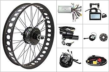Ebike 48V 750W Rear Fat Wheel Kits Bafang Thread/Cassette Hub Motor Wheel Electric Snow Bike Conversion Kit with LCD3 Dropout 175mm 190mm  Casstte 190mm 264 inch